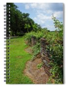 Along The Curved Wall Spiral Notebook
