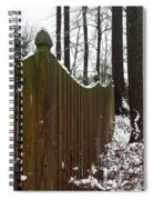 Along The Fence Spiral Notebook