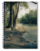 Along The Mississinewa River Spiral Notebook