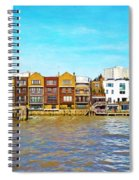 Along The River Thames Spiral Notebook
