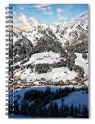 Alpbach Winter Landscape Spiral Notebook
