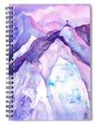 Alpenglow In The Alps Spiral Notebook