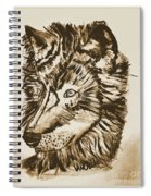 Alpha Male - The Wolf - Antiqued Spiral Notebook