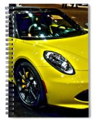 Alpha Romeo 4c Spider Spiral Notebook