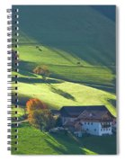 Alpine Farm And Meadows In Autumn Spiral Notebook