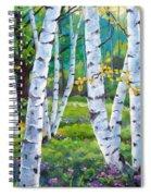 Alpine Flowers And Birches  Spiral Notebook