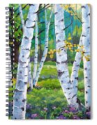 Alpine Flowers And Birches  Spiral Notebook