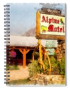Alpine Motel Vintage Roadside Oasis Yellowstone Spiral Notebook