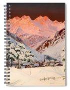 Alpine Mountain Scene Spiral Notebook