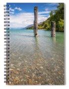 Alpine Scenery From Dart River Bed In Kinloch, New Zealand Spiral Notebook
