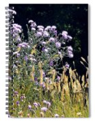 Alpine Thistles And Grasses Spiral Notebook