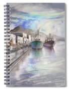 Altea Harbour On The Costa Blanca 01 Spiral Notebook