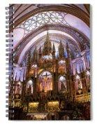 Alter Inside Basilica Of Notre Dame, Montreal, Quebec, Canada. Spiral Notebook