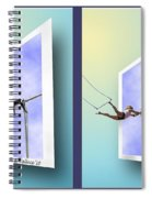 Alternate Universes - Gently Cross Your Eyes And Focus On The Middle Image Spiral Notebook