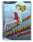 B - 17 Aluminum Overcast Pin-up Spiral Notebook