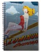 Aluminum Overcast Spiral Notebook