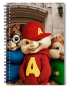 Alvin And The Chipmunks Spiral Notebook