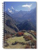 Ama Dablam Nepal In November Spiral Notebook