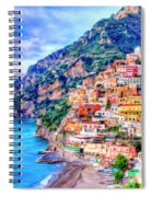 Amalfi Coast At Positano Spiral Notebook