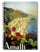 Amalfi Italy Italia Vintage Poster Restored Spiral Notebook