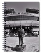 Amalie Arena Black And White Spiral Notebook