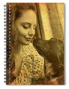 Amanda And Petey Spiral Notebook