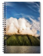 Amazing Cloud Formation At Lake Manapouri In New Zealand Spiral Notebook