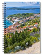 Amazing Historic Town Of Hvar Aerial View Spiral Notebook