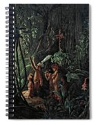 Amazonian Indians Worshiping The Sun God Spiral Notebook