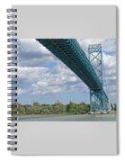 Ambassador Bridge - Windsor Approach Spiral Notebook