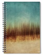 Amber And Blues Spiral Notebook