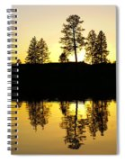 Amber Sunset Spiral Notebook