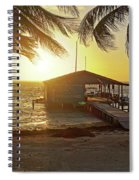 Ambergris Cayr Sunrise Palm Trees San Pedro Belize Spiral Notebook