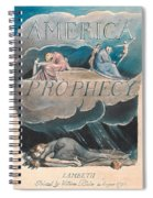 America. A Prophecy. Plate 2 Spiral Notebook