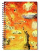 America At Sunset  Spiral Notebook