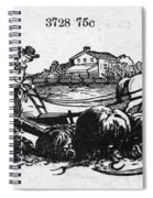 America: Farming, C1870 Spiral Notebook