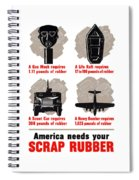 America Needs Your Scrap Rubber Spiral Notebook