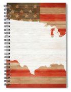 America Rustic Map On Wood Spiral Notebook