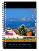 America The Beautiful Poster Spiral Notebook