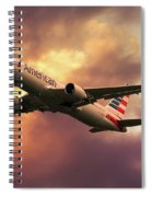 American Airlines 767 N345an Spiral Notebook