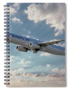American Airlines A321-231 N917uy Spiral Notebook