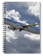 American Airlines Airbus A321 Spiral Notebook