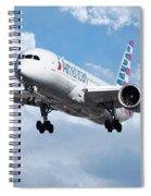 American Airlines Boeing 787 Dreamliner Spiral Notebook