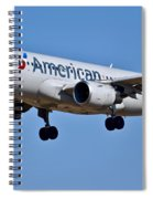 American Airlines Plane Preparing To Land At The Bwi Airport Spiral Notebook