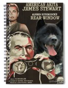 American Akita Art Canvas Print - Rear Window Movie Poster Spiral Notebook