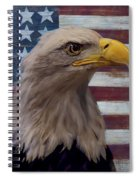 American Bald Eagle And American Flag Spiral Notebook