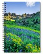 American Basin In Bloom Spiral Notebook