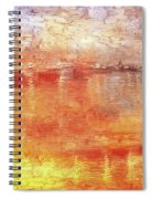 American Beach Cottage Art And Feelings-5 Spiral Notebook