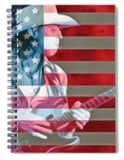 American Bluesman Stevie Ray Vaughan Spiral Notebook