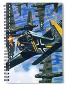 American Bombing Raid Over Europe In July 1943 Spiral Notebook